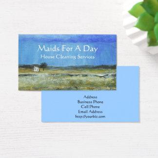Domestique minuscule de nettoyage de tempête de cartes de visite