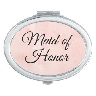 """""""Domestique miroir de contrat d'honneur"""" Miroir De Maquillage"""