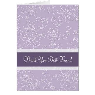 Domestique pourpre de Merci de meilleur ami de Carte De Vœux