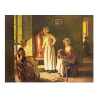 Domestiques d'arrière-cuisine carte postale