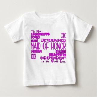 Domestiques des faveurs de noce d'honneur : t-shirt pour bébé