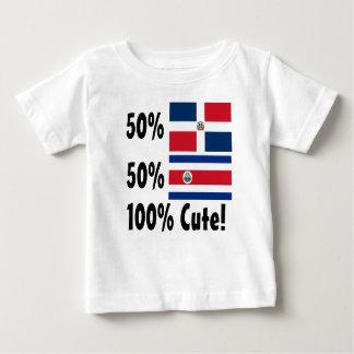 Dominicain de Rican 50% de côte de 50% 100% mignon T-shirts