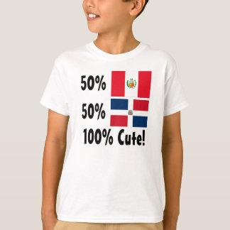 Dominicain des Péruviens 50% de 50% 100% mignon T-shirt