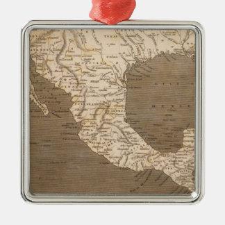 Dominions espagnols en Amérique du Nord Ornement Carré Argenté