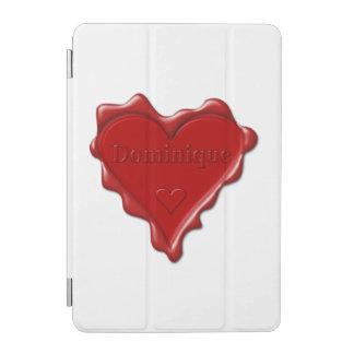 Dominique. Joint rouge de cire de coeur avec Protection iPad Mini