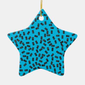 Dominos sur le bleu ornement étoile en céramique