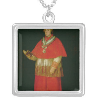 Don cardinal Luis de Bourbon c.1800 Pendentif Carré