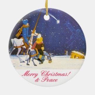 DON DON QUICHOTTE - Adorno de Navidad Ornement Rond En Céramique