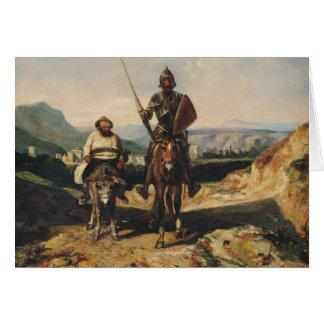 Don don Quichotte et Sancho Carte De Vœux