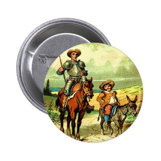 Don don Quichotte et Sancho Panza Badge