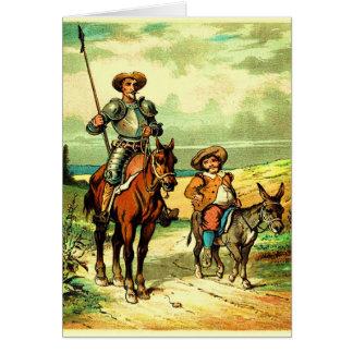 Don don Quichotte et Sancho Panza Carte De Vœux