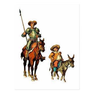 Don don Quichotte et Sancho Panza Carte Postale