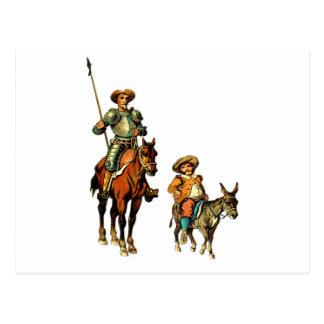 Don don Quichotte et Sancho Panza Cartes Postales