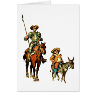 Don don Quichotte et Sancho Panza Cartes