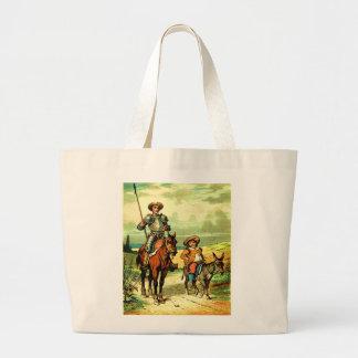 Don don Quichotte et Sancho Panza Grand Sac