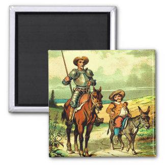 Don don Quichotte et Sancho Panza Magnets