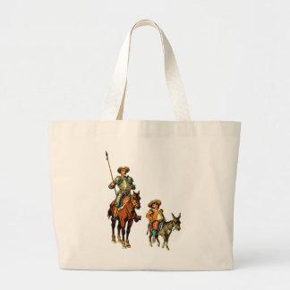 Don don Quichotte et Sancho Panza Sac En Toile Jumbo