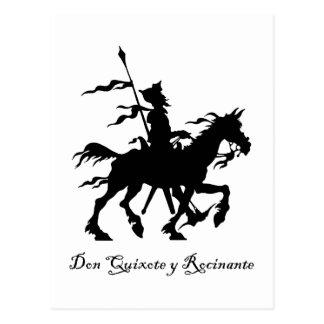 Don don Quichotte monte encore Carte Postale