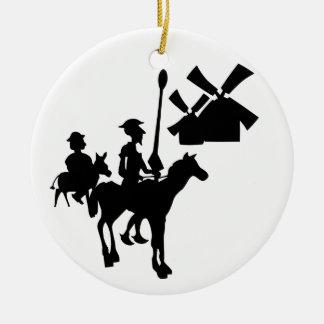 Don don Quichotte Ornement Rond En Céramique