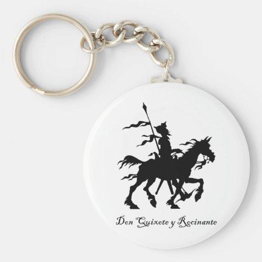 Don don Quichotte y Rocinante Porte-clef