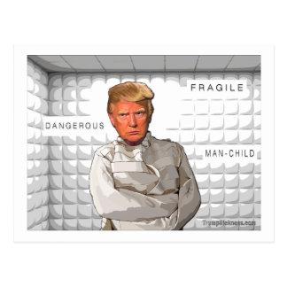 Donald dans une anti peinture d'atout de camisole carte postale