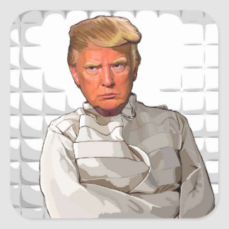 Donald dans une anti peinture d'atout de camisole sticker carré