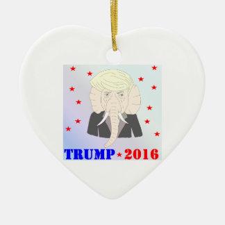 Donald Trump Ornement Cœur En Céramique