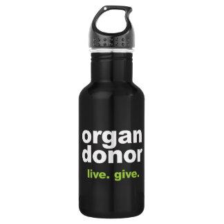 donateur d'organe bouteille d'eau