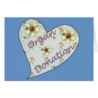 Donation d'organe carte de vœux