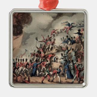 Donner l'assaut à de St SebastiAn, gravé par Ornement Carré Argenté