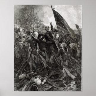 Donner l'assaut à du point pierreux, juillet 1779 posters