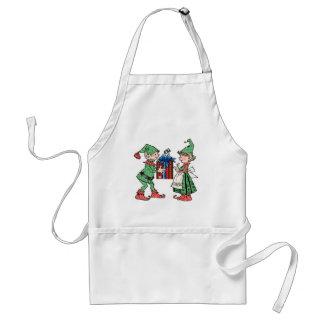 Donner vintage de cadeau d'elfes de Noël Tablier