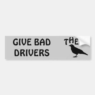 Donnez à de mauvais conducteurs l'oiseau autocollant de voiture