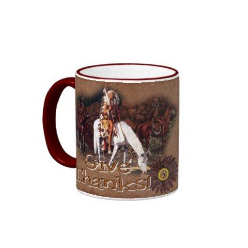 Donnez à des mercis la tasse de café indienne