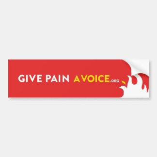 Donnez à douleur une voix autocollant de voiture