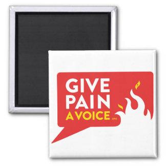 Donnez à douleur une voix magnet carré