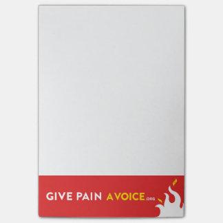 Donnez à douleur une voix post-it®