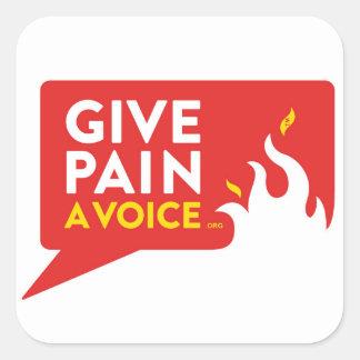 Donnez à douleur une voix sticker carré