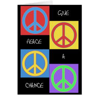 Donnez à paix une carte de bruit d'occasion
