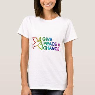 Donnez à paix une occasion (l'arc-en-ciel) t-shirt