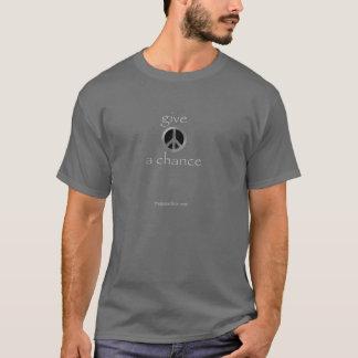 donnez à paix une occasion t-shirt