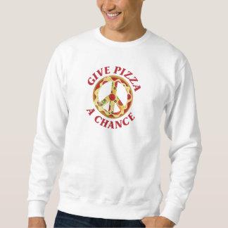 Donnez à pizza une occasion sweatshirt