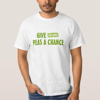 Donnez aux pois (organiques) une occasion t-shirt