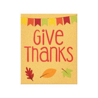 Donnez la copie de toile de thanksgiving de mercis