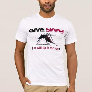 Donnez le T-shirt de moustique de sang