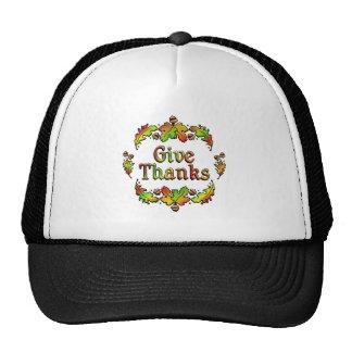 Donnez les mercis casquette trucker