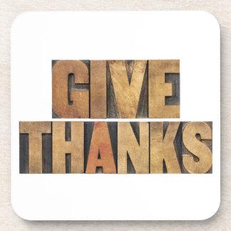 Donnez les mercis - concept de thanksgiving - dessous-de-verre