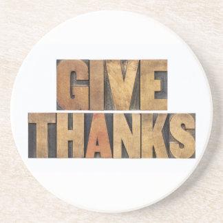Donnez les mercis - concept de thanksgiving - dessous de verre