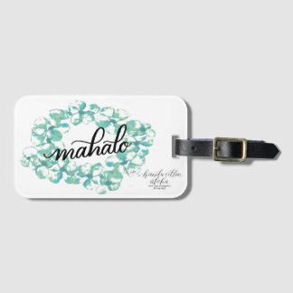 """Donnez les mercis ou le """"Mahalo"""" autour du monde Étiquettes Bagages"""