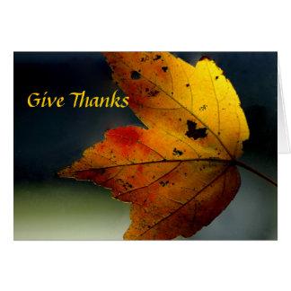 Donnez les mercis - Ralph Waldo Emerson Carte De Vœux